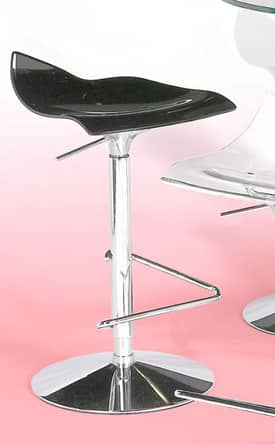 Chintaly Imports Stools Bowery Adjustable Height Acrylic Bar Height Bar Stool Furniture