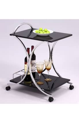Chintaly Imports Kitchen Carts Lacquer Modern Kitchen Cart Furniture