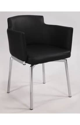 Chintaly Imports Chairs Dusty Club Style Swivel Dining Arm Chair Furniture