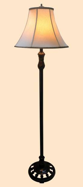 Chintaly Traditional F06044-LMP Poly Base Floor Lamp in Dark Bronze Lighting