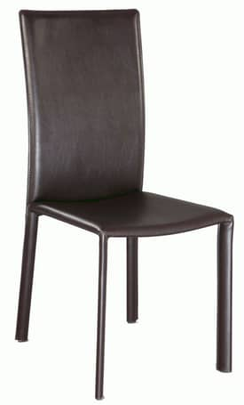 Chintaly Imports Chairs Flair Modern Cut Back Dining Side Chair Brown (Sets of 2) Furniture