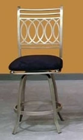 Chintaly Imports Stools Julia Counter Height Memory Swivel Bar Stool Furniture