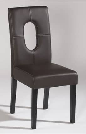 Chintaly Imports Chairs Open Back Parson Dining Side Chair Brown (Sets of 2) Furniture