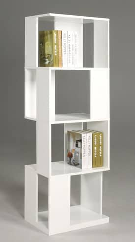 Chintaly Imports Bookcases All Side Open Modern Book Shelf Furniture