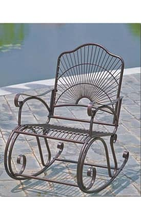 Lauren & Co Outdoor Sun Ray Rocker Furniture