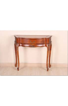 Lauren & Co Tables Carved 1 Drawer 4 Leg Wall Table Furniture