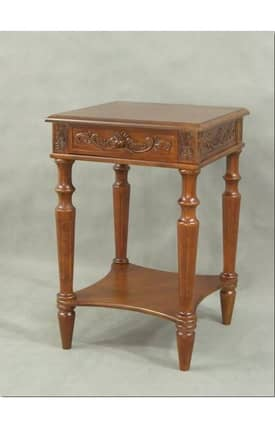Lauren & Co Tables Carved Square Table Furniture