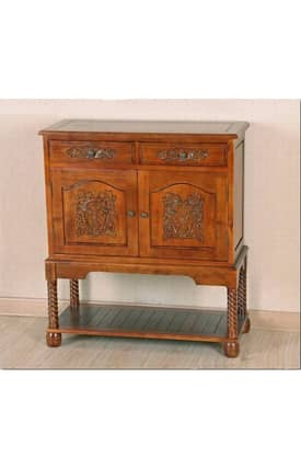 Lauren & Co Armoires Carved Wood Cupboard Furniture