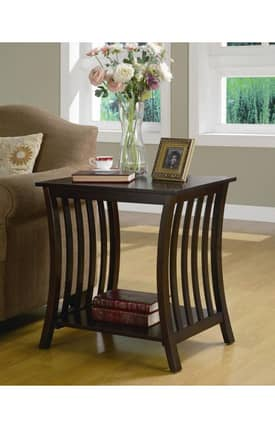 Lauren & Co Tables Manhattan Wood End Table Furniture