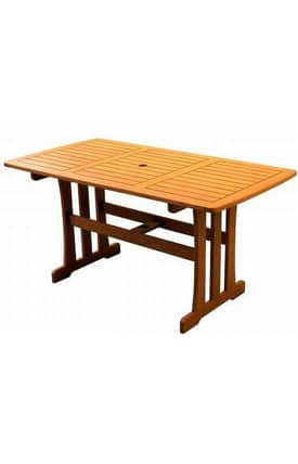 Lauren & Co Outdoor Royal Tahiti Rectangular Dining Table Furniture