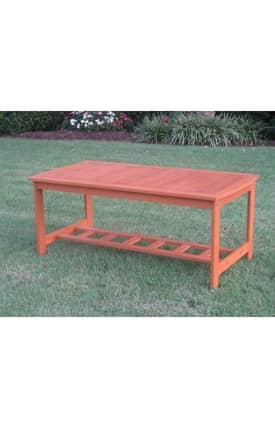 Lauren & Co Outdoor Royal Tahiti Gulf Port Rectangular Coffee Table Furniture