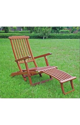 Lauren & Co Outdoor Steamer Deck Lounge Chair Furniture