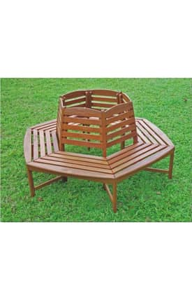 Lauren & Co Outdoor Sectional Tree Trunk Bench Furniture