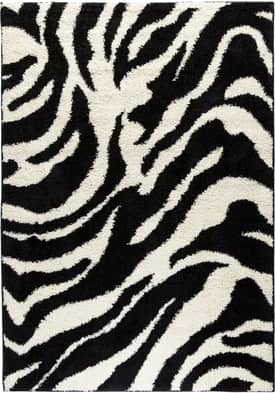 Well Woven Madison Shag Zebra Rug