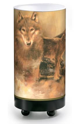 Illumalite Western Western Wolves CA-1610 Table Lamp Lighting