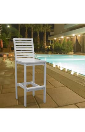 VIFAH Stools Bradley Outdoor Wood Bar Stools Furniture