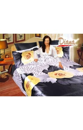 2 Decorate Diana Yellow Rose Bed in a Bag Duvet Cover Set