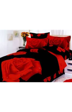 2 Decorate Le Vele Night Rose Bed in a Bag Duvet Cover Set