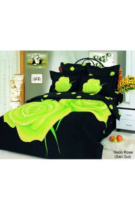 2 Decorate Le Vele Neon Rose Sari Gul Bed in a Bag Duvet Cover Set