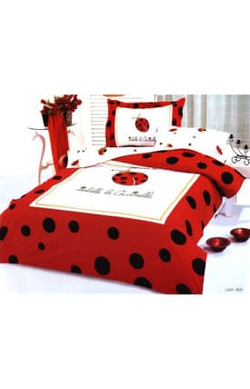 2 Decorate Le Vele Lady Bug Bed in a Bag Duvet Cover Set