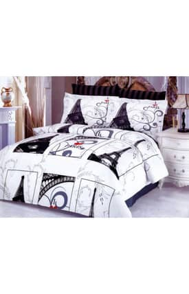 2 Decorate Le Vele Eiffel Gray Bed in a Bag Duvet Cover Set