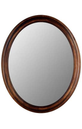 Hitchcock-Butterfield Oval Oakwood Oval Mirror