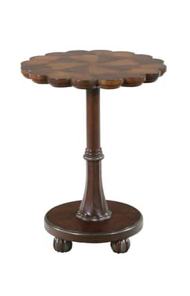 Gails Accents Furniture Tables Classic Scalloped Top Marquetry End Table Furniture