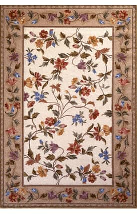 Sapphire Rugs Sapphire Country & Floral Handmade Wool-Colonial-Floral Vine Rug