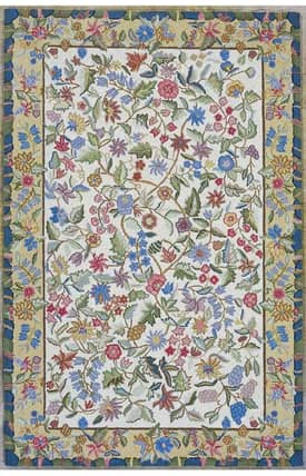 Sapphire Rugs Sapphire Country & Floral Handmade Wool-Colonial-Tapestry Rug