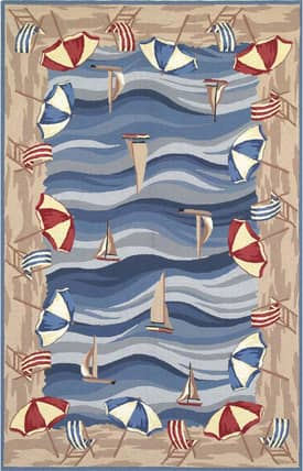Sapphire Rugs Sapphire Novelty Handmade Wool-Colonial-On The Beach Rug