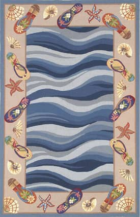Sapphire Rugs Sapphire Novelty Handmade Wool-Colonial-Fun In The Sun Rug