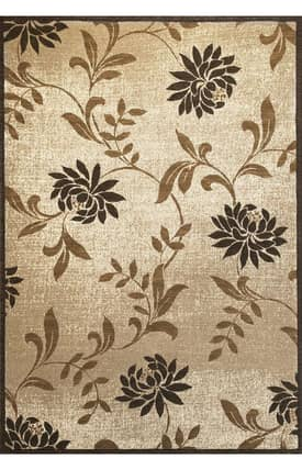 Sapphire Rugs Sapphire Country & Floral -Onyx-Mums Rug