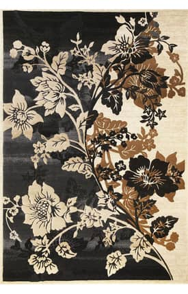 Sapphire Rugs Sapphire Country & Floral -Onyx-Bouquet Rug
