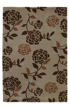 Sapphire Rugs Sapphire Contemporary -Bali-Floral Silhouette Rug