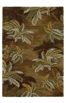 Sapphire Rugs Sapphire Contemporary Handmade Wool-Sparta-Palm Trees Rug