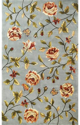 Sapphire Rugs Sapphire Country & Floral Handmade Wool-Chateau-Spray Roses Rug