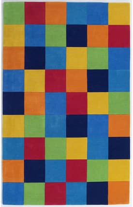 Sapphire Rugs Sapphire Kids Handmade Wool-Kidding Around-Boy's Color Blocks Rug
