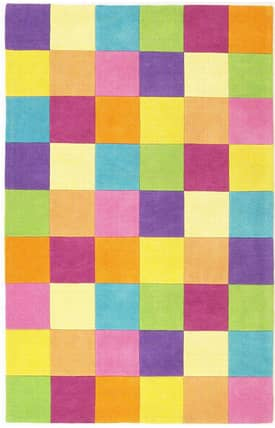 Sapphire Rugs Sapphire Kids Handmade Wool-Kidding Around-Girls Color Blocks Rug