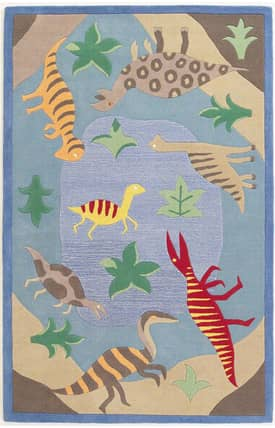 Sapphire Rugs Sapphire Kids Handmade Wool-Kidding Around-Dinosaur Fun Rug