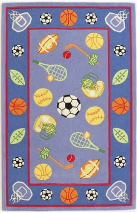 Sapphire Rugs Sapphire Kids Handmade Wool-Kidding Around-Lets Play Ball Rug