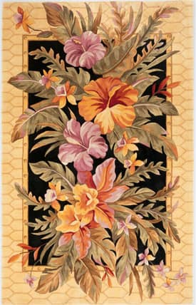 Sapphire Rugs Sapphire Country & Floral Handmade Wool-Catalina-Orchid Paradise Rug