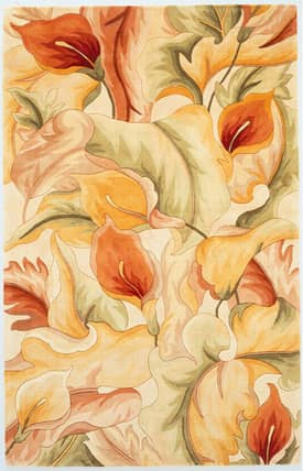 Sapphire Rugs Sapphire Country & Floral Handmade Wool-Catalina-Calla Lillies Rug