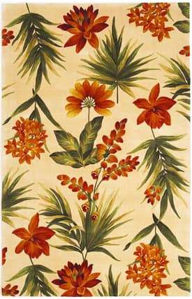 Sapphire Rugs Sapphire Country & Floral Handmade Wool-Catalina-Tropical Flora Rug