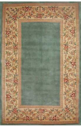 Sapphire Rugs Sapphire Traditional Handmade Wool-Ruby-Floral Border Rug