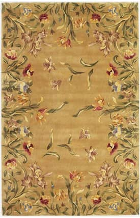 Sapphire Rugs Sapphire Country & Floral Handmade Wool-Emerald-Tulip Garden Rug